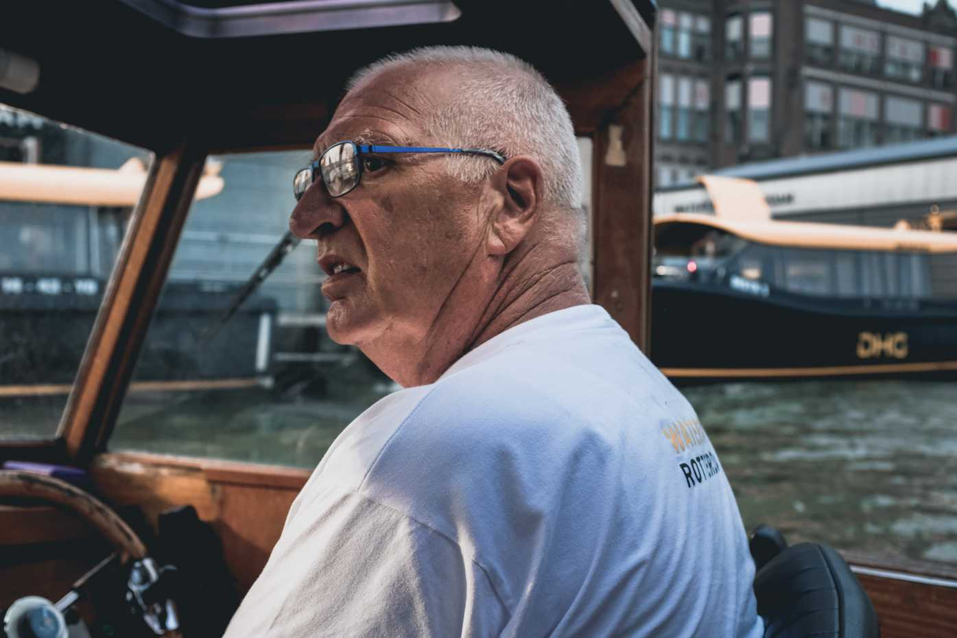 Rotterdam water taxi driver