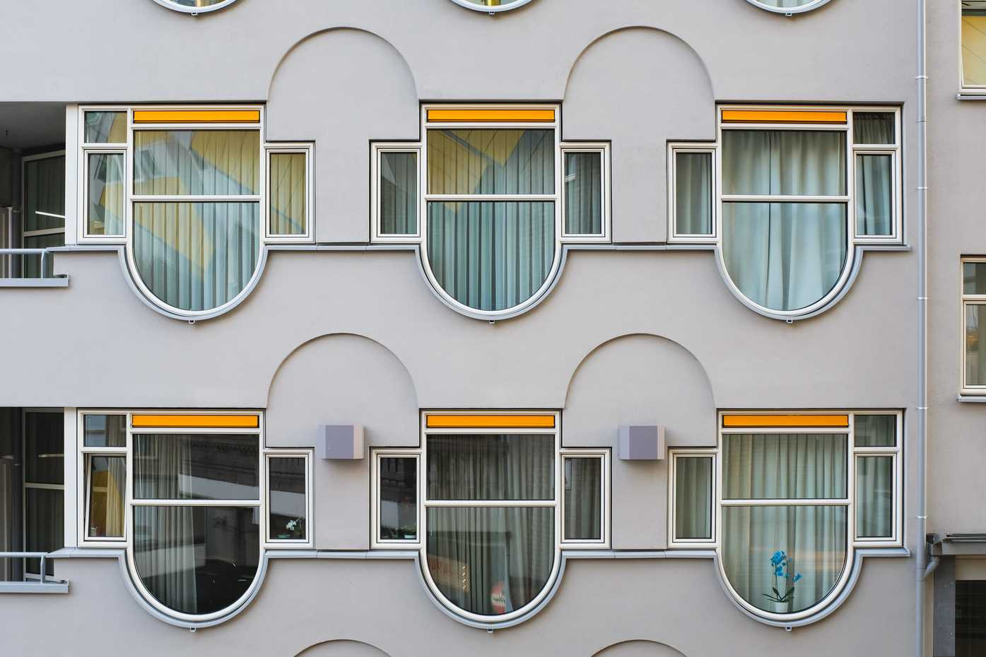 Quirky, rounded windows.