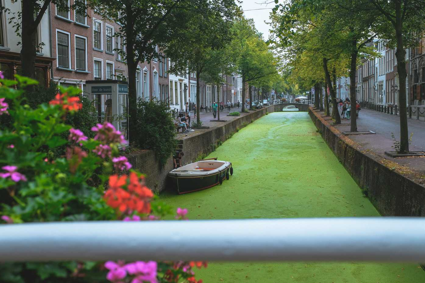 Another view of a green canal